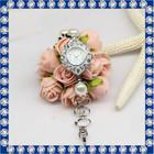 2015 new design ladies pearl bracelet watch