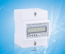 (4 module 70mm) reset zero function/ three phase din rail type energy meter/kWh meter