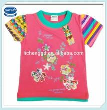2-6Y (KF3335)High quality NOVA brand children clothing new models colorful kids girls t-shirts