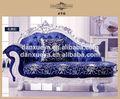 barato por atacado danxueya móveis fábrica de veludo azul esculpida sofa conjunto
