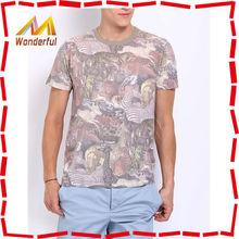 2015 fashion printed100 cotton t shirt wholesale china all over t shirt printing