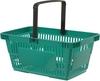 European style single handle plastic shopping basket