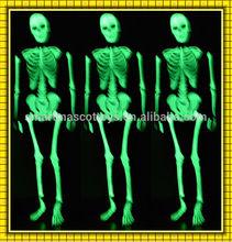 Shines at night skeleton costume/skeleton morph suit