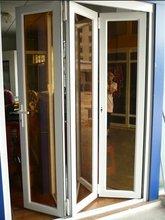 white color security economic folding door price ( WJ-AFD-1502)