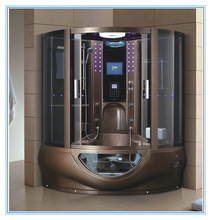 2014 Hot sale Two Persons Chocolate Color Luxury Steam Shower Room With Whirlpool ZY-062A