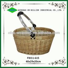 Wicker basket with handle rattan basket cane basket
