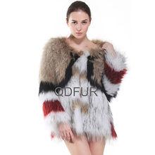 qd30403 2014 coreano abbigliamento fashion design per cappotti invernali donne maglia cappotto di pelliccia di procione
