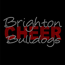Wholesale rhinestone cheer leading iron on transfers for shirts FY 53 (5)