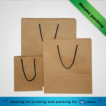 2014 Hot selling kraft paper packaging shopping bags
