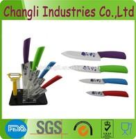 Colored zirconia ceramic kitchen knife