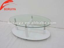 rotondo moderno in vetro lucido tavolo alto da caffè
