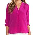 grossista novo modelo de blusa de uniforme rose red chiffon imagens de tops chiffon