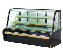 Commercial pastry display refrigerator showcase with black marble CE approval