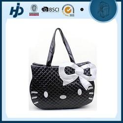 High quality black fashionable hello kitty handbag
