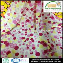 2014 nuevo popular 100% poliéster reciclado impreso de la gasa de la tela para la moda de prendas de vestir de china