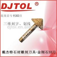 Diamond 3D engraving bits cnc cutting tools