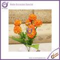 K2027-4 9-head artificielle hortensia fleur de soie gros hortensia hortensia blanc fleurs coupées