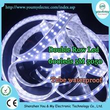 DC12v 5050 flexible led strip 120led/m led strip white 5050 waterproof light 5m/roll drop silicone glue