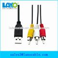 fonctionnelle usb convertisseur rca câble longueur facultatif pour la télévision