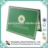 Custom school company certificate professional printing