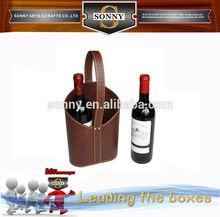 bag style leather elegant bottle carrier