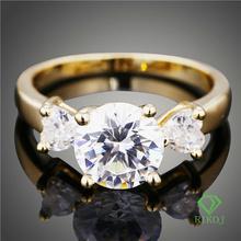 cz crystal wedding gold ring
