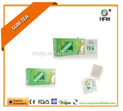 Natural green tea bag effect loss weight product aloe slimming tea