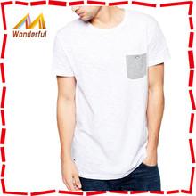 High quality unbranded name plain white tshirt OEM simple design breathable plain white tshirt wholesale