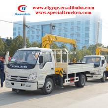 Foton forland más pequeño completamente hidráulico de camiones- grúa montada para cargas hasta 2000 kgs