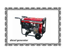 5KW 50HZ/60HZ air-cooled open-frame diesel generator with copper wires with wheels