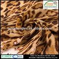 2014 yeni popüler 100% polyester leopar desenli ipek şifon kumaş