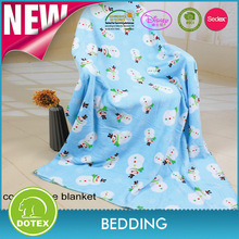 ShaoXing Dotex Textile cute and super soft printed baby blanket