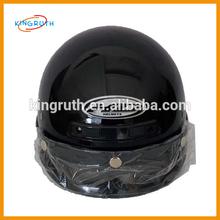 Black convenience motorcycle open face helmet