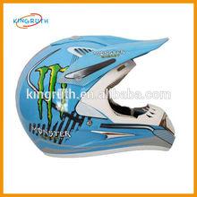 Blue dirt bike full face motorcycle helmet