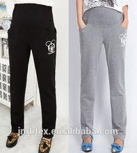 Hot sale wholesale 100%Cotton Plain color maternity pants