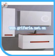 PVC + MDF MDF Wall Mounted Modern Bathroom Vanity Storage