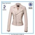 Factory direct blancimperméable à l'eau veste en cuir courte femmes. 2014