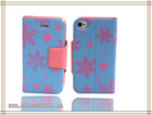 wholesale mobile phone flip case cover for iphone 4/4G/4S