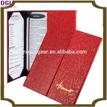 2 View sample menu card for restaurant / cheap leather menu cover