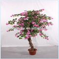 Fabricado em cantão vermelho artificial cuco da árvore na venda, alta qualidade artificial de plantas