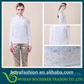 nuevo estilo elegante encaje de los modelos de blusas de gasa