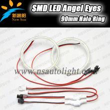 90MM SMD led angel eyes 9-16V DC 7000K high brightness led halo ring angel eyes for BMW for Honda for BYD