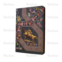 Huaben new product high end quality Chinoiserie special paper journal with elastic band