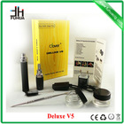 China factory manufacturer wholesale 2014 newest original dry herb Deluxe V5 vaporizer, e pipe watchcig electronic cigarette