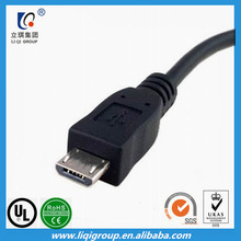 Nylon braided 1.2m length double micro usb data cable
