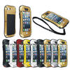 Original LOVE MEI Extreme Small Waist Powerful life Waterproof Dropproof Metal Wholesale Cell Phone Case For iPhone 5 5s