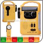 Warranty 1 year power by hand crank and solar dynamo 4 in 1 USB mini fm radio