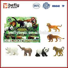 6 canlı hayvanlar karışık plastik orman hayvan oyuncaklar