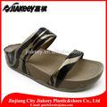 cuero de la pu sandalia de alta calidad y precio barato witn de moda patrón de cebra para las mujeres