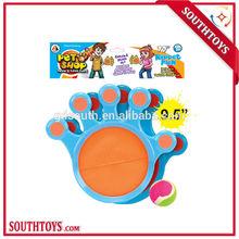 Forma de la mano de la playa velcro catch juego de pelota juego